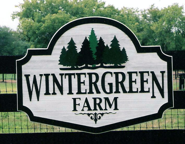 engraved sign Wintergreen Farm copy